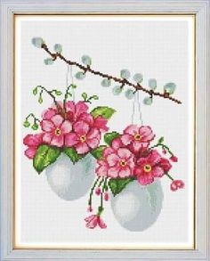 This Pin was discovered by Ays Cross Stitch Love, Cross Stitch Flowers, Cross Stitch Charts, Cross Stitching, Cross Stitch Embroidery, Cross Stitch Magazines, Easter Cross, Flower Embroidery Designs, Modern Cross Stitch Patterns