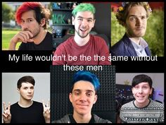 I agree for like four of them. (Mark d&p and jack) replace Ethan with CrankThatFrank and Felix with dodie
