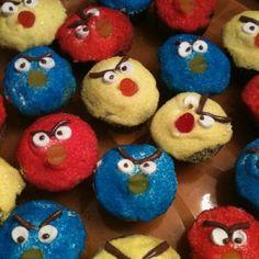 Angry birds, so cute.
