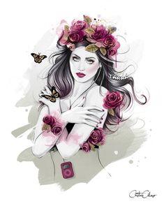 Sanatlı Bi Blog Moda İllüstrasyonlarıyla Kadına Renk Katan 15 Çalışma: 'Cristina Alonso' 12