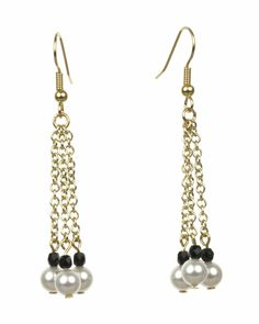 The Jet Black and Swarovski White Pearl Gold Chain Earrings are from the Everyday Essentials Collection by Lee Buchanan Jewelry. These go-with-everything earrings are attractive, practical and perfect for everyday and special occasion outfits. Add this earring pair to your jewelry wardrobe today or give as a gift. All Lee Buchanan Jewelry comes in a white gift box with a gold bow.