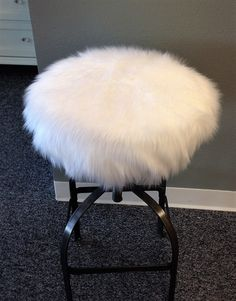 Faux Fur Luxury Elasticized Round Barstool Cover Kitchen Counterstool Seat Removable The Hot Home Decor Trend By Brittaleighdesigns On Etsy