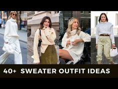 40+ SWEATER OUTFIT IDEAS/ Inspo | TRENDY SWEATER CARDIGANS WORK OUTFITS 2020 LOOKBOOK - YouTube Red Fashion, Winter Fashion, Sweater Outfits, Sweater Cardigan, Beige Aesthetic, Fall Jackets, Cardigans, Sweaters, Minimal Fashion