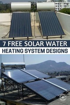 healt water 7 Free Solar Water Heating System Designs - You can explore the various types of solar water heater designs, the guidelines and build an easy and affordable solar hot water heater.