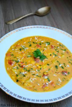 Indická hrachová polévka s kokosem