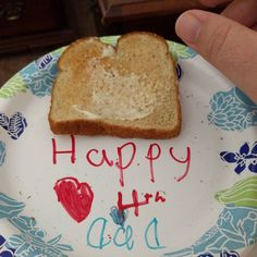 We all woke up to breakfast in bed from Rachelle! Happy 4th America!
