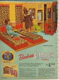 Barbie dolls from the 1964 Sears Christmas catalog...what a cool catalog!