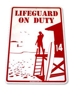 """Lifeguard on Duty"" aluminum surf sign **NEW** Beach Pool safety Boardwalk Theme, Beach Boardwalk, Beach Kids, Beach Pool, Most Beautiful Words, Phone Screen Wallpaper, Under The Sea Theme, Theme Days, Surfs"