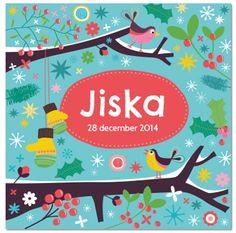 Geboortekaartje Jiska van Zwiep.
