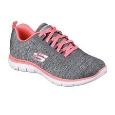 low priced cc6d0 250aa Skechers Flex Appeal 2.0 Womens Sneakers Zapatos Skechers, Skechers Mujer,  Tennis Mujer, Calzado