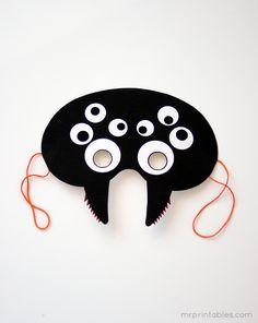 Masker / Mask: spin / spider :-)    printable halloween mask