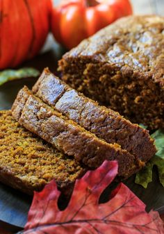 Spicy Pumpkin Bread - with a hefty dose of fall spices, this pumpkin bread is not lacking in flavor.