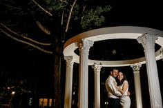 Night portrait of a newlywed couple outside Columbus Event Centre Night Portrait, Greater Toronto Area, Newlyweds, Centre, Couple, Garden, Wedding, Valentines Day Weddings, Just Married