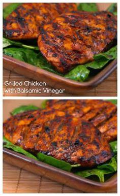 Grilled Chicken with Balsamic Vinegar | Kalyn's Kitchen®