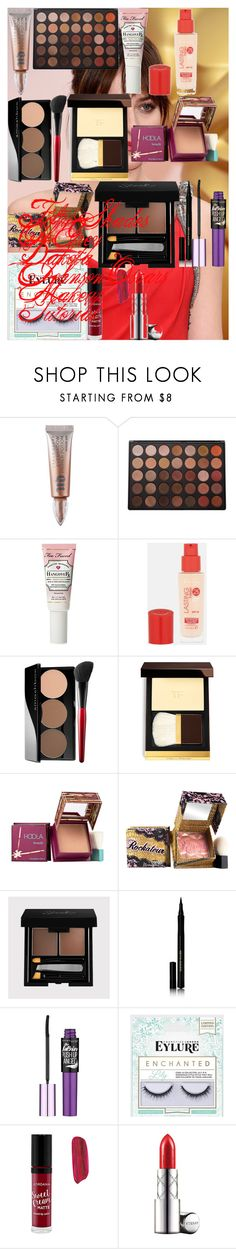 Fifty Shades Of Grey Dakota Johnson Oscars Makeup Tutorial by oroartye-1 on Polyvore featuring beauty, Tom Ford, Benefit, By Terry, Too Faced Cosmetics, Kevyn Aucoin, Morphe, Urban Decay, Rimmel and Maybelline