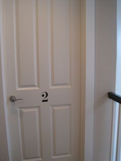 Numbered door http://theinspiredroom.net/my-house/