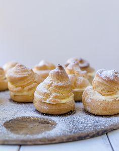 lemon cream choux buns