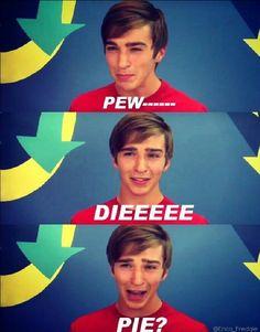 Hahaha Tom Phelan being cute taking about pewdiepie