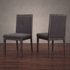 Patterson Smoke Linen Dining Chairs (Set of 2)