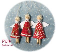 Christmas Ornament Crafts, Burlap Christmas, Green Christmas, Christmas Angels, Handmade Christmas, Christmas Tree Decorations, Christmas Crafts, Holiday Decor, Etsy Christmas