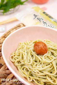 Udon noedels met shiso pesto   Proef Japan