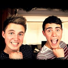 Marcus Butler and Alfie Deyes Grace facin' !! too much youtube perfection for one picture...