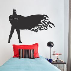 Standing Batman Superheroe Wall Decal _ Kids Room Batman Wall Decor _ Boys Heroes Wall Adhesive Stickers _ Removable _ Trendy Wall Designs