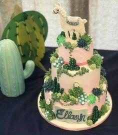 Llama and cactus cake! @frostedbybeckie #cake #cakedecorating #llama #llamacake #cactuscake #girlbirthday #birthdaycake #cakedecorating