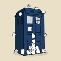 The Adipose Have The TARDIS!!  (I love the little one hugging the TARDIS all lovey like)