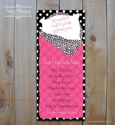 Sleepover Invitation Hot Pink and Animal by fancyshmancynotes, $15.00