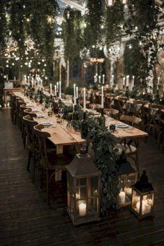 44 Unique Winter Wedding Reception Centerpieces Ideas Unique Ideas for Wedding Receptions in Winter Trendy Wedding, Perfect Wedding, Dream Wedding, Wedding Day, Long Wedding Tables, Long Table Reception, Magical Wedding, Formal Wedding, Luxury Wedding
