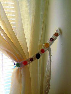 ButtonShop.ca - Handmade Crochet Curtain Button Tie Back by artfulcrochet on Etsy