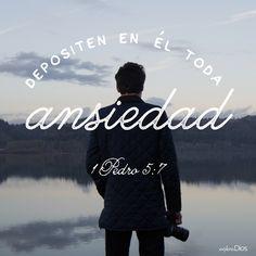 Depositen en él toda #ansiedad. -1 Pedro 5:7 #ExploraDios