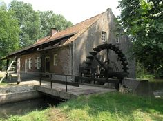 watermill named Broekmolen, dated 1738, at Stramproy, Limburg, Netherlands
