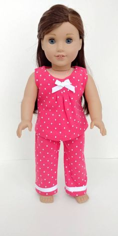 """Excited to share the latest addition to my #etsy shop: Pajamas. 18 inch doll clothing. American girl. 18"""" doll clothes.Girl's. Sleepwear #toys #dollclothes #sleepwear #dollpjs #dollsleepwear #18inchdollclothes #18inchdoll #americangirl #agdoll http://etsy.me/2FoWxIN"""