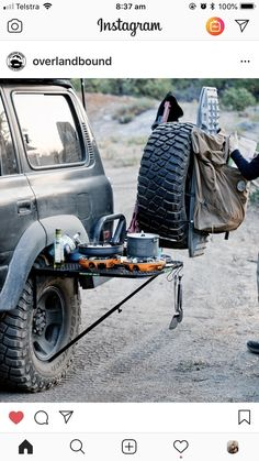 Camping Table - Considering Going On A Camping Trip? Truck Bed Camping, Jeep Camping, Camping Table, Camping And Hiking, Off Road Camping, Chevrolet Blazer, Vw California T6, Camping Accesorios, Iveco Daily 4x4