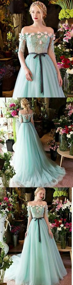 Long Prom Dresses,A-line prom dress,Off-the-shoulder prom dress,Brush Train prom dress,Beading prom dress,Long Sleeve Prom Dress,cheap prom dresses,prom dresses 2017,prom dresses 2018,plus size prom dresses,short prom dresses,prom dresses cheap #annapromdress #prom #promdress #evening #eveningdress #dance #longdress #longpromdress #fashion #style #dress