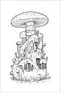 Amazing Pen and Ink Cross Hatching Masters Edition Ideas. Incredible Pen and Ink Cross Hatching Masters Edition Ideas. Mushroom Drawing, Mushroom Art, Mushroom Tattoos, Bulletins, Psychedelic Art, Art Drawings Sketches, Skull Art, Pencil Art, Doodle Art