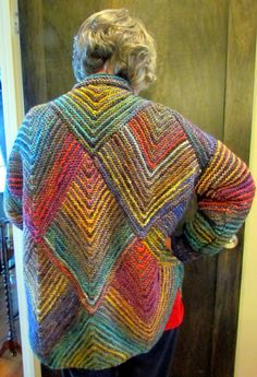 Melody Johnson knitted this wonderful jacket.