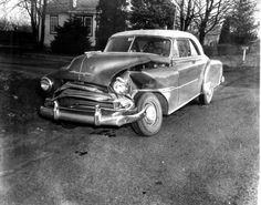 1950s Car Wrecks | Pictures of Accidents along Street Road at or near NADC