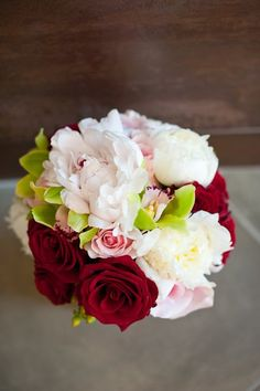 Elegant Spring Vineyard Blush Ivory Pink Red Bouquet Wedding Flowers Photos & Pictures - WeddingWire.com