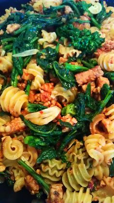 Vegan Sausage with Brocolli Rabe and Quinoa pasta. From Veganomicon Cookbook. The bible for flavorful, delicious vegan grub. The Stumbling Spoon