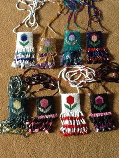 I enjoy making these Flower pouch's! Beaded by Dream Keepers.