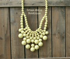 Baby Yellow Bubble Bib Statement Necklace by UrbanAtticBoutique, $31.00