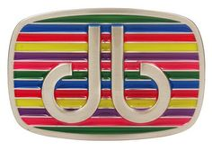 DB Multi-Coloured Stripe Buckle by Druh Belts.  Buy it @ ReadyGolf.com