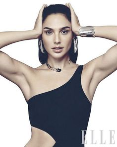 Wonder Woman actress Gal Gadot fashion beauty model photo shoot for Elle Magazine December 2017 issue Gal Gardot, Beautiful People, Beautiful Women, Beautiful Celebrities, Gal Gadot Wonder Woman, Elle Magazine, Wonder Women, Poses, Woman Crush
