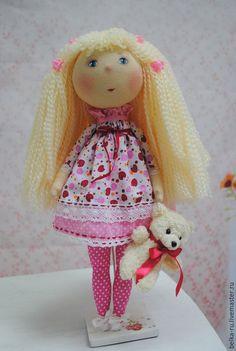 Куклы тыквоголовки ручной работы. Ярмарка Мастеров - ручная работа. Купить Ягодка. Кукла для игры и для души. Handmade. Брусничный