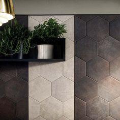 Sassuolo Stone Patterns | dark-silver-natural-hexagon-10x8_5-scene