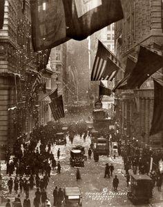 Armistice Day, Wall Street, Manhattan c. 1918
