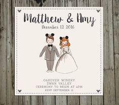 This Disney invitation for your fairytale wedding: